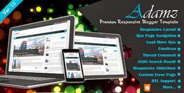 Adamz Responsive Blogger Template-bwtemplate