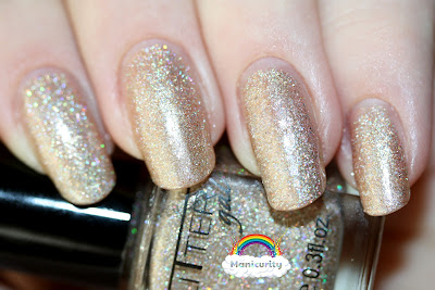 Manicurity: Glitter Gal White Gold Sparkle