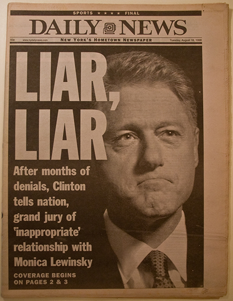 bill clinton lying 