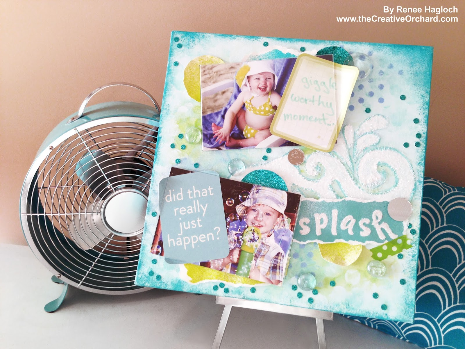 How to scrapbook canvas - If You Plan To Attend Our Creative Workshop You Will Need To Bring Your Own Apron Plus Two Photos That Make You Think Of The Theme Splash A Moment