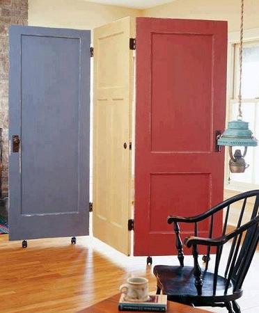 Biombos con puertas recicladas decoraci n - Puertas de biombo ...