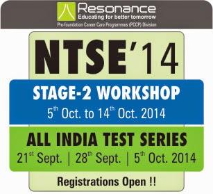 NTSE Stage-2 Workshop @ pccp