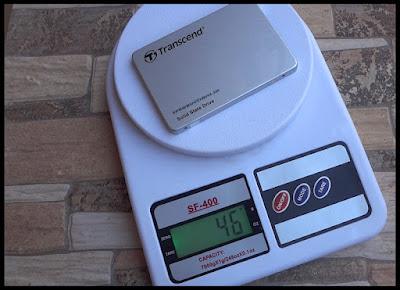 Transcend SSD light weight