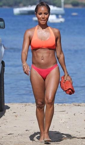 jada pinkett shows off her bikini body photos