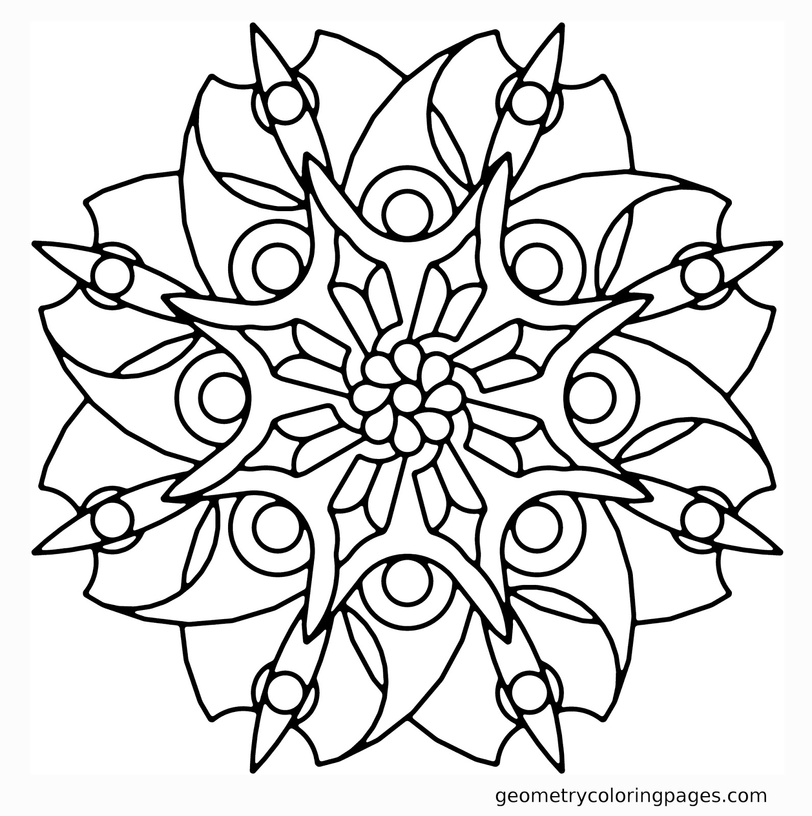Coloring Pages Geometric Flower Coloring Pages sacred geometry coloring book futpal com mandala meditation pages free for