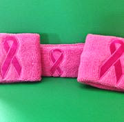 Suddora Pink Robbon Sweatband Set