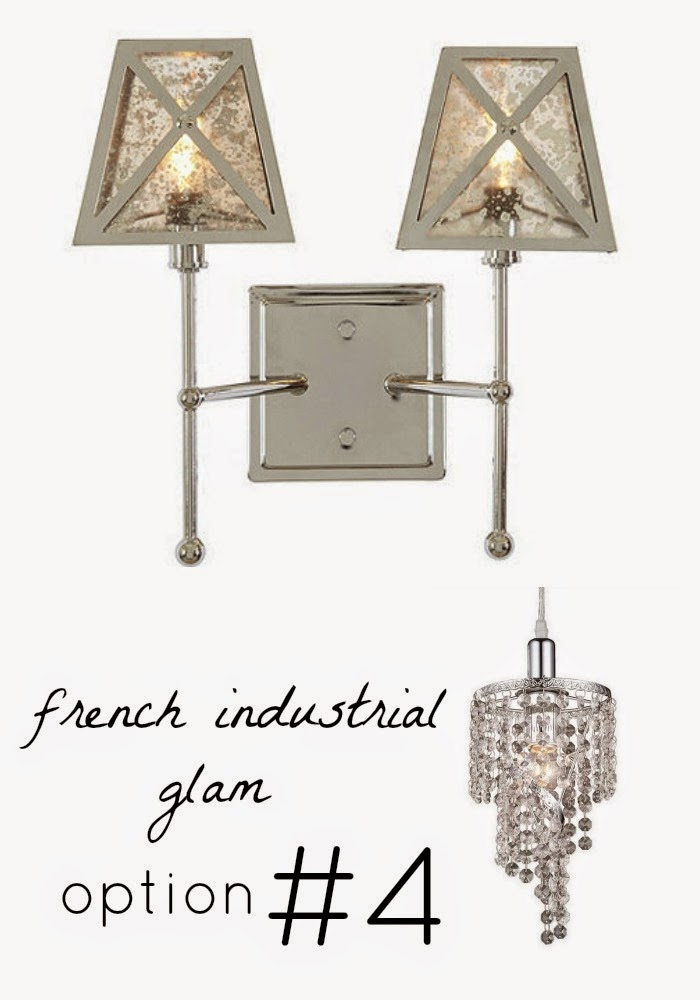 vintage french industrial glam lighting