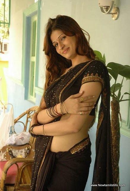 Palak in Black Saree - Telugu Actress Palak Hot Black Saree Pics