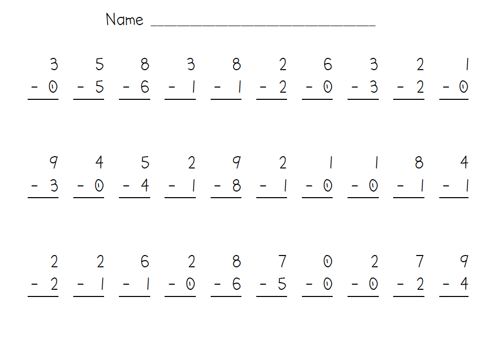 Subtraction Math Worksheets For 2nd Graders free math worksheets – Addition Worksheets for 2nd Graders