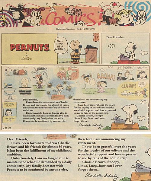 The last strip of peanuts