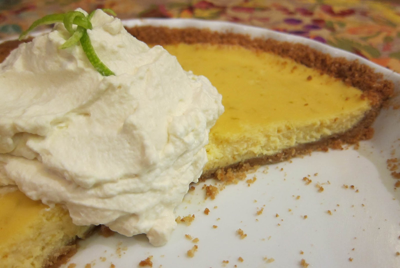 Creamy Lime Ricotta Tart In A Gingersnap Crust Recipe — Dishmaps
