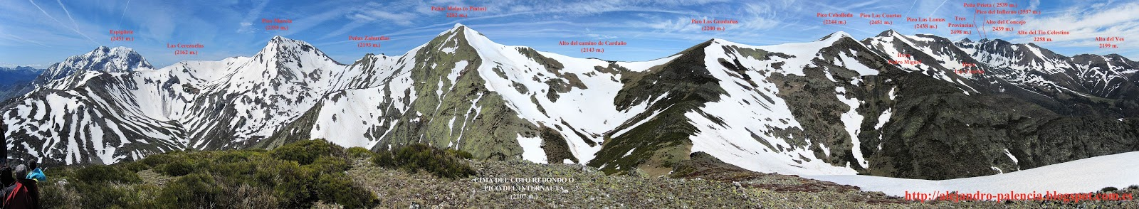 Panorámica montaña Palentina-espigüete-el ves