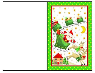 cartao de natal papai noel no trenó