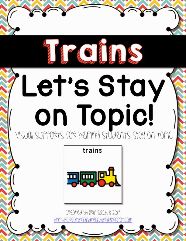 http://www.teacherspayteachers.com/Product/Visual-Conversation-Support-Trains-1277861