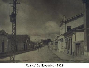 RUA XV DE NOVEMBRO EM 1929