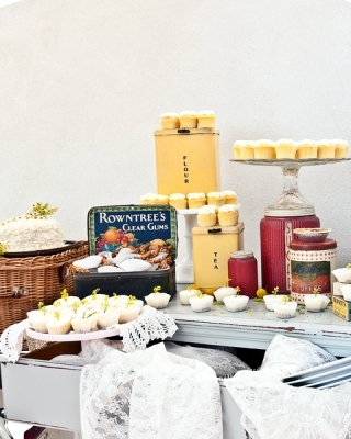 vintage dessert table shower