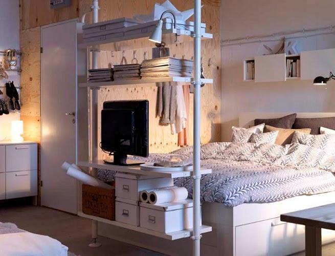 Decotips c mo dividir ambientes en un dormitorio abierto - Como decorar un estudio pequeno ...