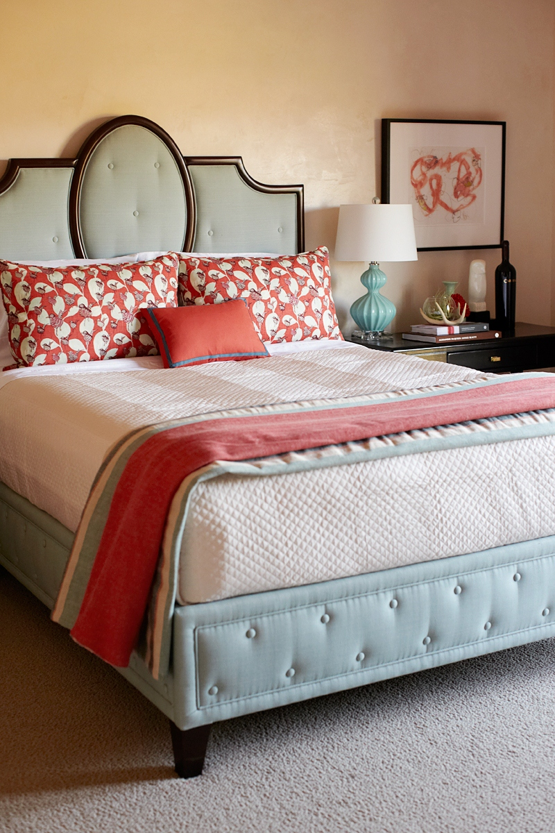 Gallery For Light Blue And Coral Bedroom