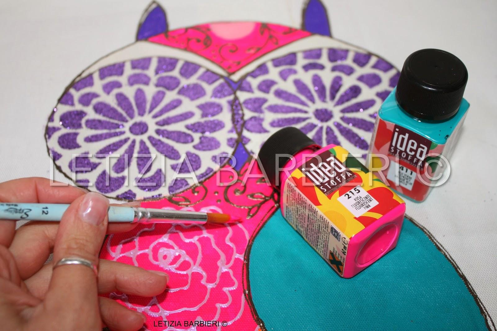 letizia barbieri: colori per pittura su tessuto idea stoffa maimeri - Decorazioni Su Stoffa