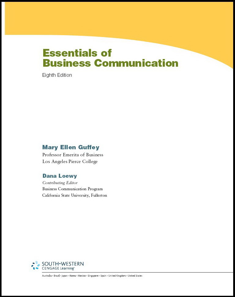 Business Communication Essentials, 7th Edition