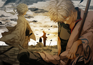 Gintoki Sakata Gintama Anime Samurai Katana White Hair HD Wallpaper Desktop PC Background 1323
