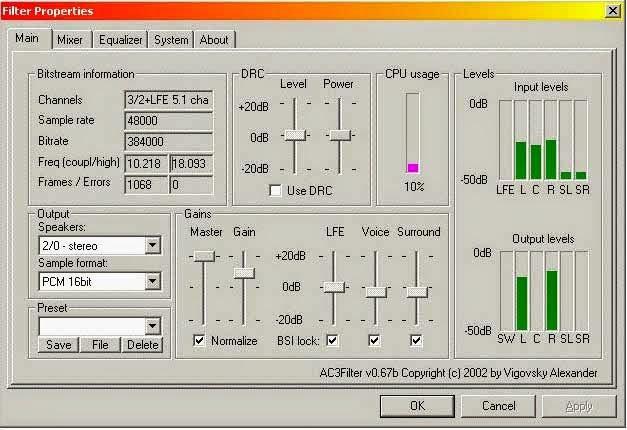 AC3Filter Tools 1.0a