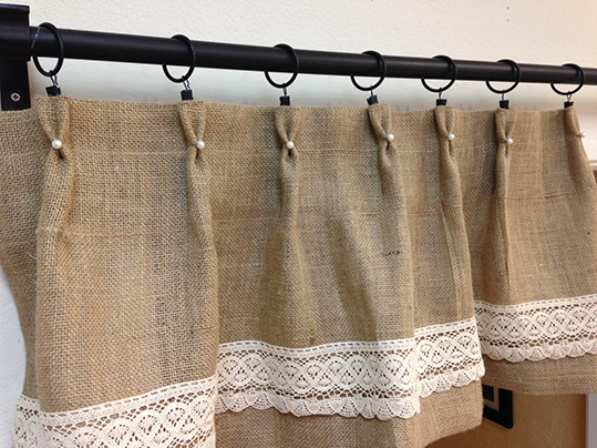 Diy burlap kitchen curtains - Mam 225 S Creativas Junio 2014