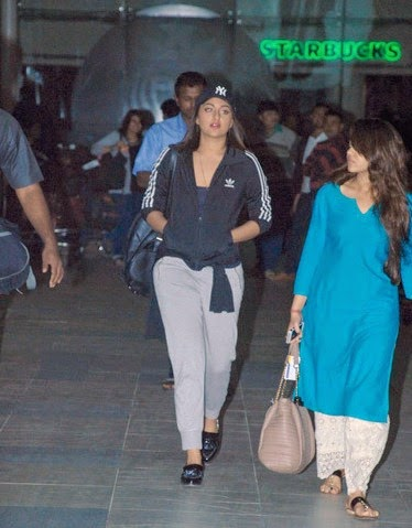 Sonakshi Sinha, Javed Akhtar and Shabana Azmi  snapped at the airport