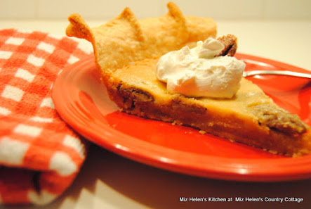 Spicy Pecan Custard Pie