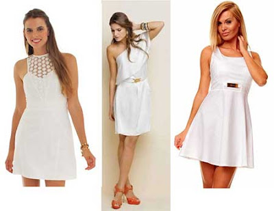 modelo de vestido branco para o reveillon