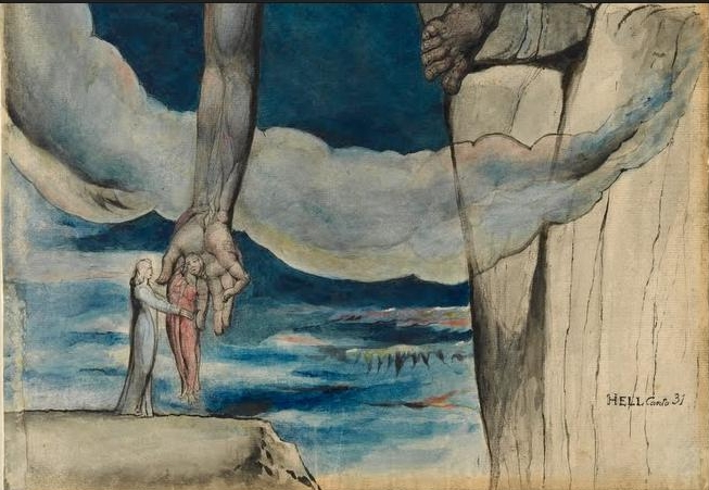 british art william blake A white haired man in a long, pale robe who flees from us with his hands raised, 1794 by william blake symbolism illustration yale centre for british art (yale university), new haven, ct, us.