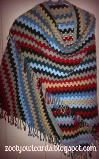 Zooty Owls Crafty Blog Corner To Corner Granny Shawl Pattern