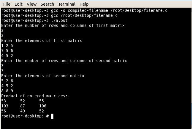 Linuxamination Compile Run C Program On Linux Terminal