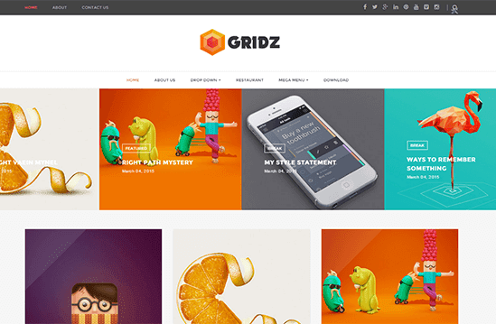 Gridz: best free responsive blogger template
