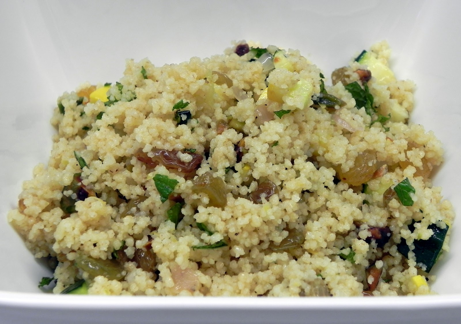 ... Kitchen: COUSCOUS WITH SQUASH, GOLDEN RAISINS, PISTACHIOS AND MINT