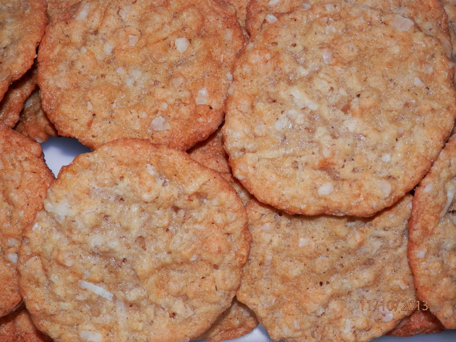 ... Recipes: Egg Free, Dairy Free Crispy Oatmeal Coconut Lace Cookies