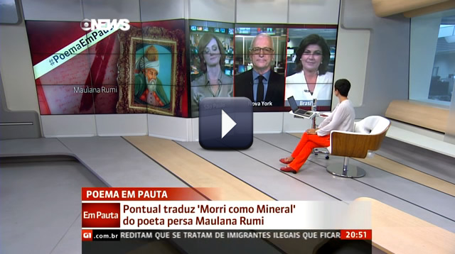 Jorge Pontual recita Rumi no GloboNews em Pauta