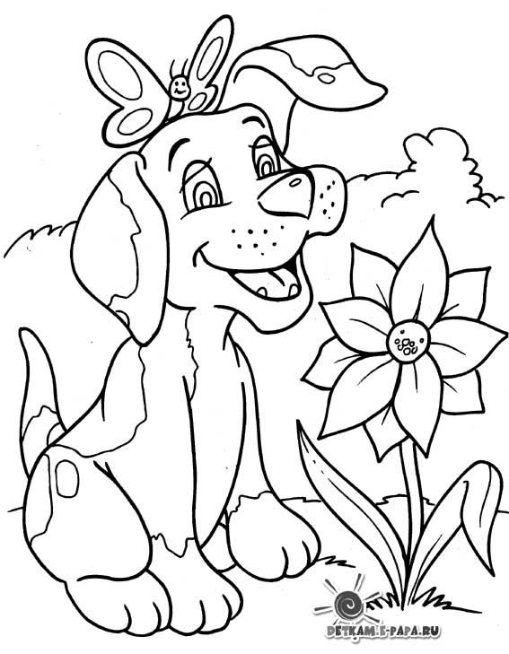 Immagini di cani da colorare for Immagini di cani da disegnare