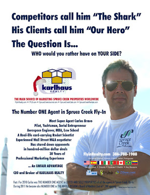 Carlos Bravo Top Real Estate Broker Spruce Creek Fly-In