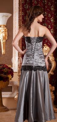 Elégant bustier plissée perles taffetas robe de bal