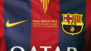 Jersey Barcelona home terbaru Final Champion 2015