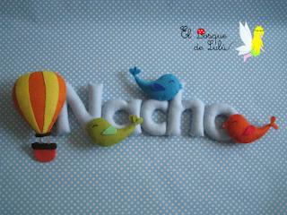 nombre-en-fieltro-Nacho-decoración-infantil-letrero-decorativo-personalizado-elbosquedelulu-hechoamanoparati