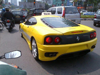 taksi ferrari di jakarta
