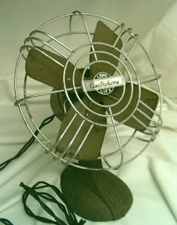 photo of antique fan