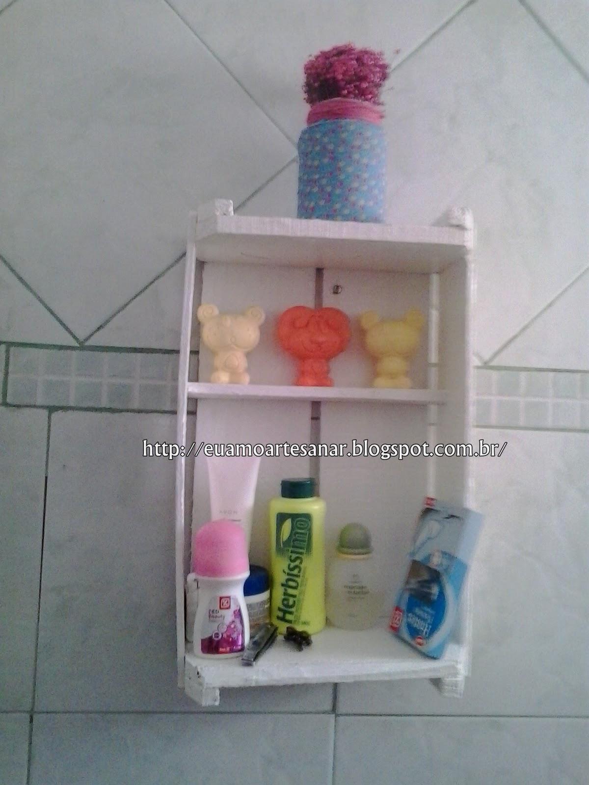 Eu Amo Artesanato Reciclagem com caixas # Como Fazer Armario De Banheiro Reciclado