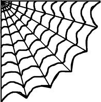 Terrible image regarding spider web template printable