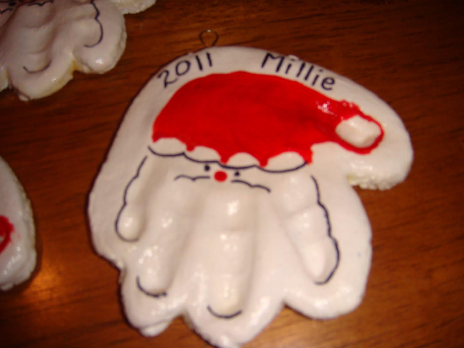 Homemade Christmas 2  Handprint Ornaments