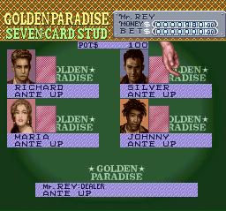 Screenshot of SNES game Vegas Stakes