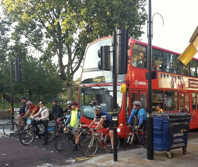 Bikes slowing bus down?