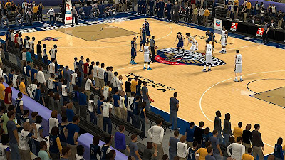 NBA 2K13 New Orleans Pelicans Arena Court Patch